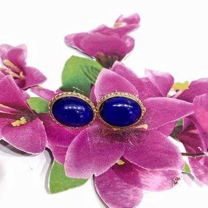 Vintage 14k Lapis lazuli earrings